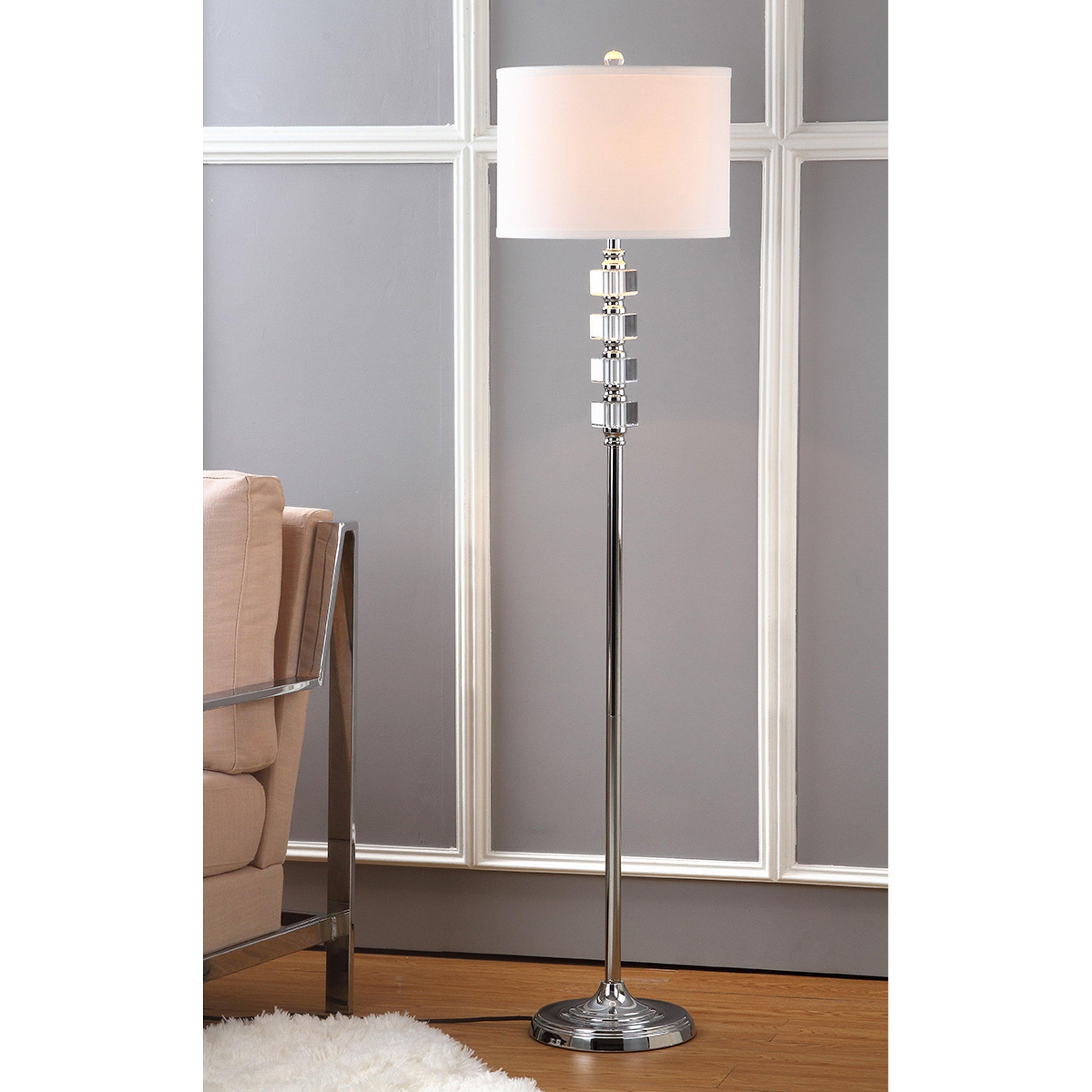 Safavieh Lighting 60 Inch Crystal Lombard Street Floor Lamp 14 X14 X60 On Sale Overstock 9043344