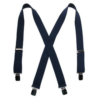 CTM® Men's Terry Casual Elastic Clip-End 1 1/2 Inch Suspenders - One Size