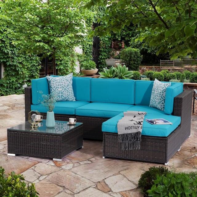 Bonosuki Patio Furniture Sets 5-piece Outdoor Conversation Set