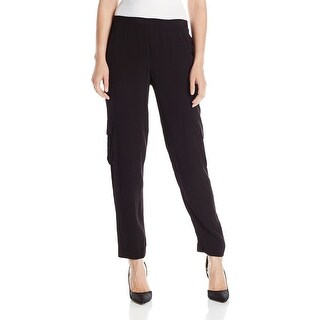 T Tahari NEW Deep Black Women's Size XL Cargo-Pocket Suella Pants