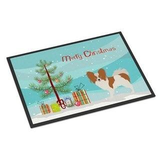 Carolines Treasures BB8472JMAT Papillon Christmas Indoor or Outdoor Mat 24 x 36 in.