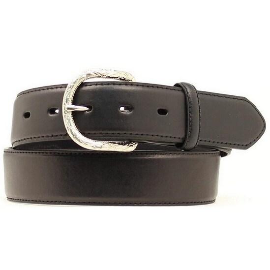 Nocona Western Belt Mens Basic Design Leather Black
