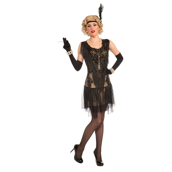 Roaring 20's Lacey Lindy Costume Adult Standard - Black