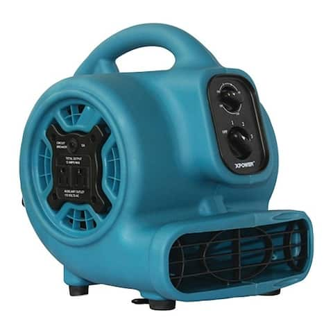 Xpower p-230at p-230at 800 cfm 3-speed mini air mover/floor dryer/utility blower fan with timer and power outlets
