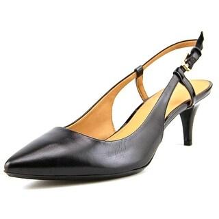 Calvin Klein Patsi Women Pointed Toe Synthetic Black Slingback Heel