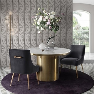 Link to Silver Orchid Swain Marble Dining Table Similar Items in Dining Room & Bar Furniture