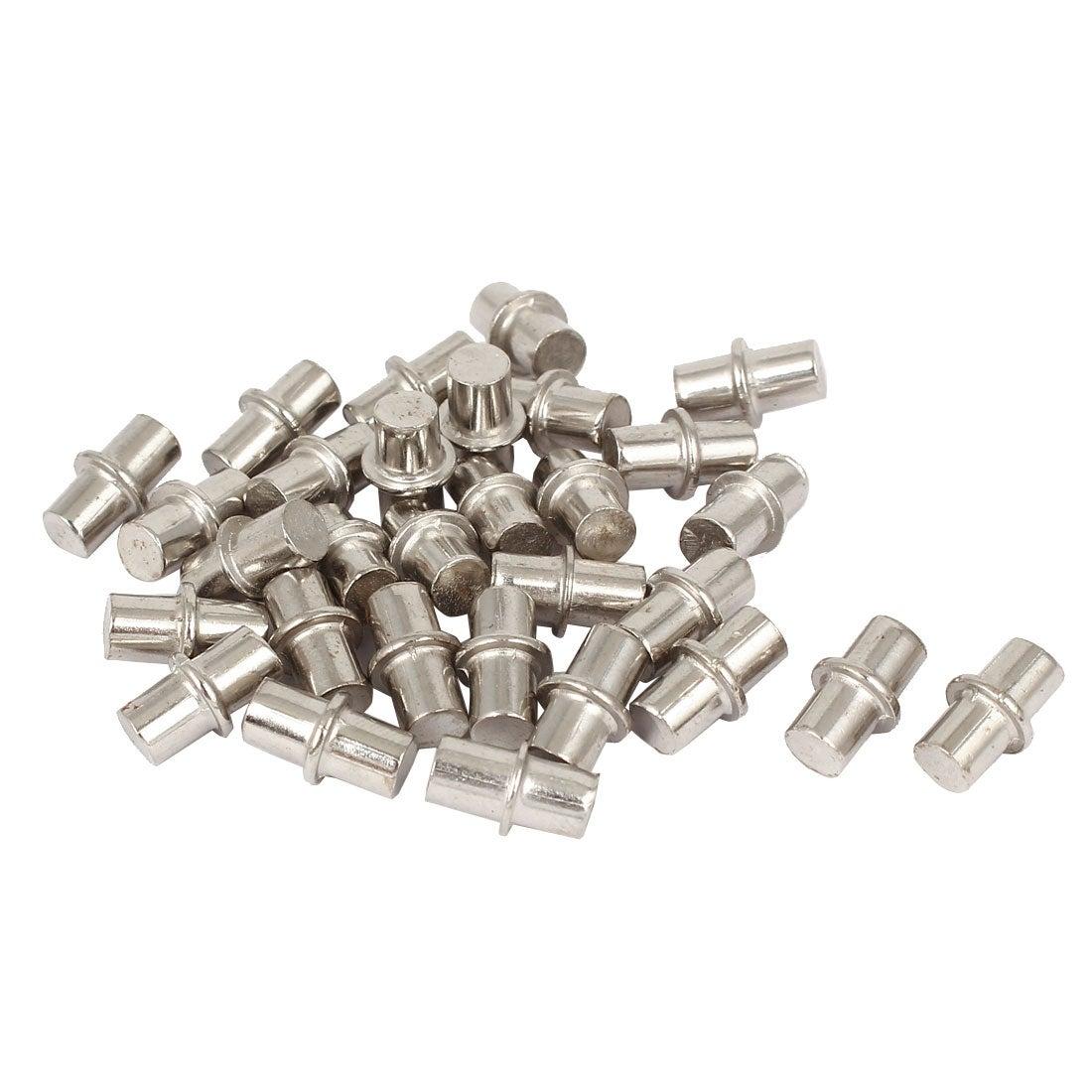 Cabinet Cupboard Wooden Board Shelf Holder Support Pins Nails 6mm x 14mm 30 Pcs