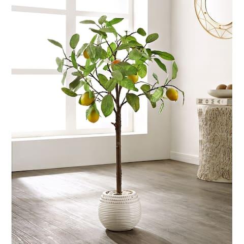 "SAFAVIEH Faux Lemon Potted Tree - 21.3"" W x 20.5"" L x 35"" H"