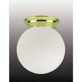 "Volume Lighting V7301 1 Light 6"" Flush Mount Ceiling Fixture with Frosted Ribbed Glass Shade"
