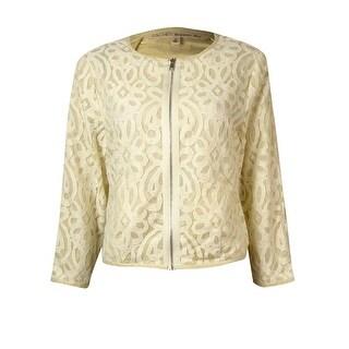 Rachel Roy Women's Carlie Lace Cropped Jacket - Ivory - s