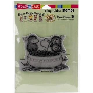"""Stampendous House Mouse Cling Stamp 2.75""""X3.75""""-Paper Clip Heart"""