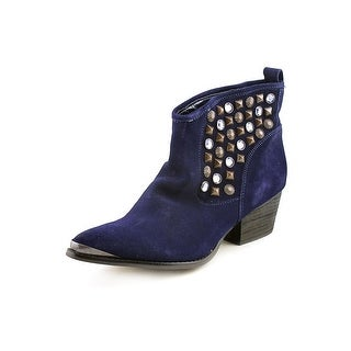 Chinese Laundry I Spy Women Pointed Toe Suede Blue Ankle Boot