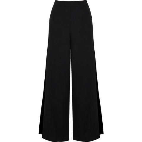 Bishop + Young Black Womens Size Large L Wide-Leg Dress Pants