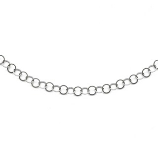 Chisel Stainless Steel Polished 6mm Circle Link Necklace - 36 in
