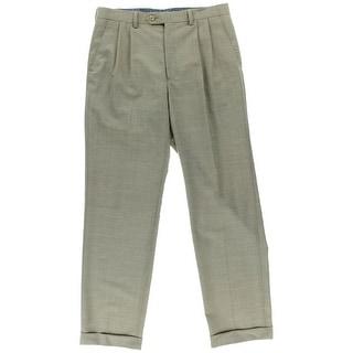 Lauren Ralph Lauren Mens Wool Pindot Dress Pants