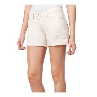 Big Star NEW Pink Seashell Women's Size 32 Denim Frayed Alex Shorts