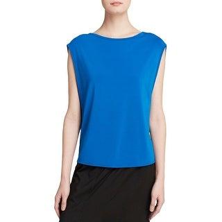 Helmut Lang Womens Faint Pullover Top Colorblock Jersey