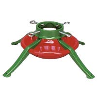 Ideal Brand Christmas Tree Stand - For Real Live Trees Up To 7' Tall - Red