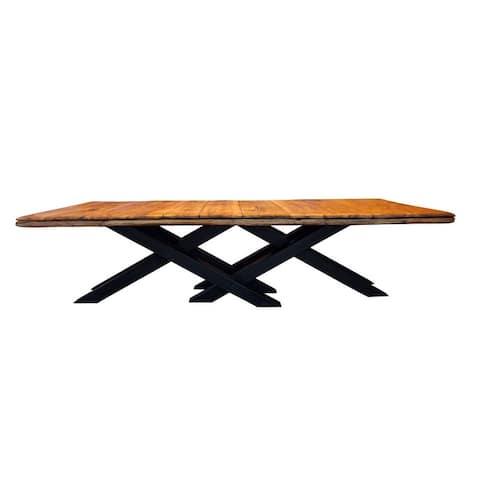 NOVA Oak Wood Dining Table - Oak Wood/Black