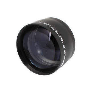 Unique Bargains Replacement Black 58mm Front 2X Telephoto Conversion Lens Protetcor for Camera