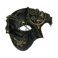 Elaborate Steampunk Style Half Face Phantom Adult Costume Mask