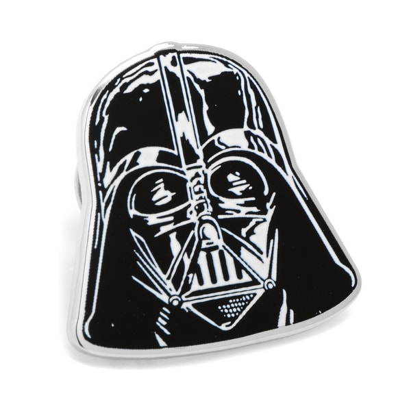Star Wars Mens Darth Vader Silver & Black Enamel Silver Plated Lapel Pin
