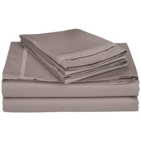 Miranda Haus Anemone Egyptian Cotton Deep Pocket Solid Sheet Set