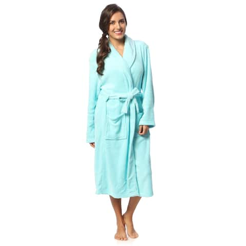 Womens Microplush Bath Robe