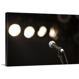 """""""Microphone and spotlights"""" Canvas Wall Art"""