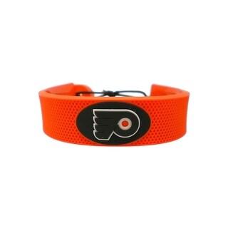 Philadelphia Flyers Team Color NHL Gamewear Leather Hockey Bracelet