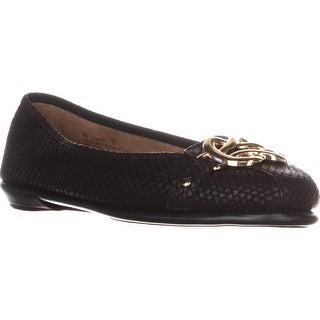 Aerosoles High Bet Comfort Ballet Flats, Black Snake