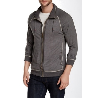 HOWE NEW Enlisted Gray Mens Size 2XL Full Zip Mock Funnel Neck Sweater