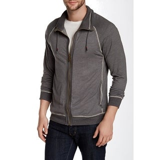 Howe NEW Heather Gray Mens Size Large L Ribbed Full Zip Sweater