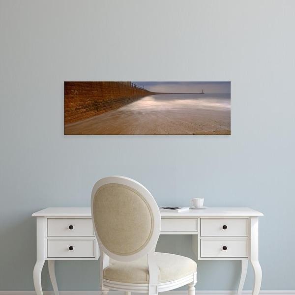 Easy Art Prints Panoramic Image 'Surrounding Wall Along Sea, Roker Pier,Sunderland, England, United Kingdom' Canvas Art