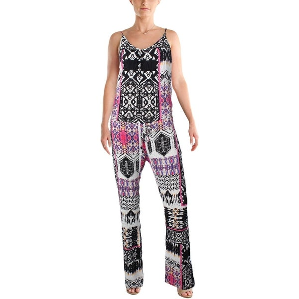 Felicite Womens Jumpsuit Printed Drawstring