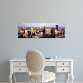 Easy Art Prints Panoramic Images's 'High angle view of a cityscape, Buffalo, New York State, USA' Premium Canvas Art