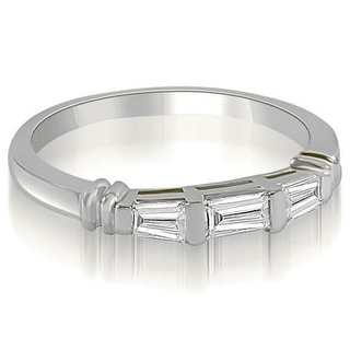 Link to 14K Gold 0.25 CT Antique 3-Stone Baguette Diamond Wedding Ring - White H-I Similar Items in Wedding Rings