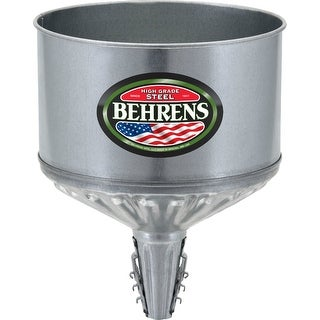 Behrens GTF-123 Lock On Tractor Funnel with Screen, 8-Qt Capacity, Steel