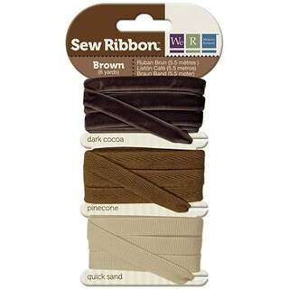 """We R Memory Keepers Sew Ribbon .375""""X6yds-Brown"""