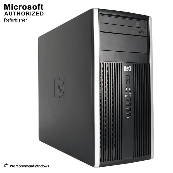 HP 6200 TW, Intel Intel i5-2400 3.1G, 8GB DDR3, 512GB SSD, DVD, WIFI, HDMI, VGA, DP Port, BT 4.0, W10P64(EN/ES)-Refurbished