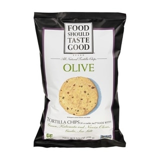 Food Should Taste Good - Olive Tortilla Chips ( 12 - 5.5 oz bags)