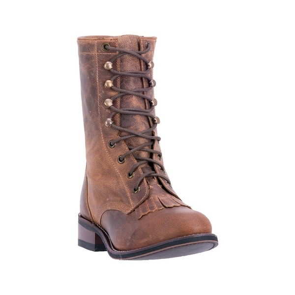 Laredo Western Boots Womens Round Walking Sara Rose Tan