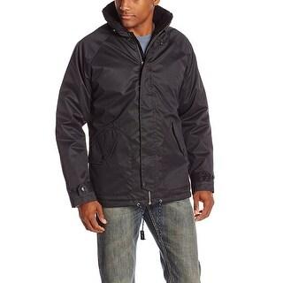 Nautica Sherpa Collar Water Resistant Full Zip Jacket Black Large L