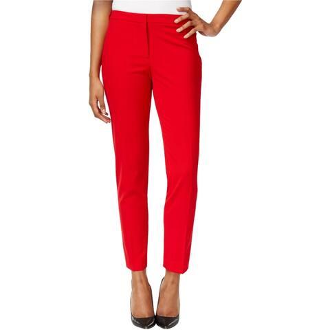 Calvin Klein Womens Highline Dress Pants, red, 14