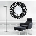 Statements2000 Black / Silver Metal Decorative Wall-Mounted Mirror by Jon Allen - Mirror 108 - Thumbnail 11