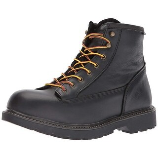 Wolverine Mens Floorhand Leather Closed Toe Ankle Safety Boots