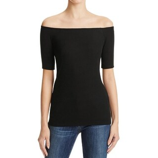 Splendid Womens Casual Top Off the Shoulder Knit