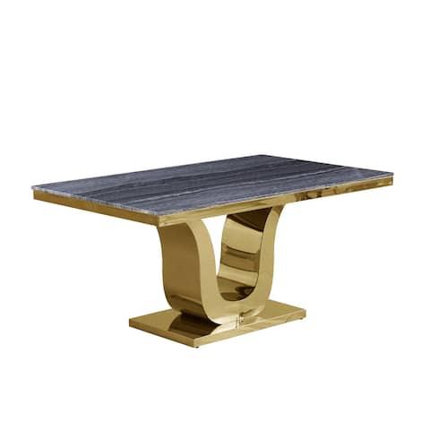 Best Quality Furniture Genuine Dark Grey Marble Table (Single)