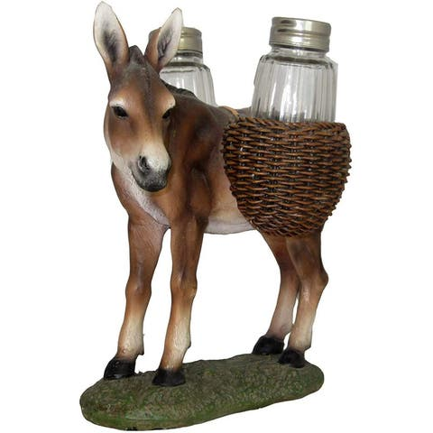 Donkey 3-Piece Salt And Pepper Shaker Set, Brown, 7x7x5 Inches - N/A