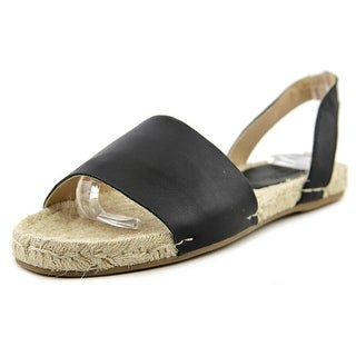 Soludos Slingback Sandal Leather Women Round Toe Leather Black Espadrille